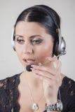 Obsługa klienta agent na telefonie Obraz Royalty Free