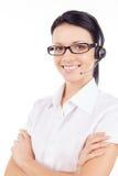 Obsługa klienta przedstawiciel. Fotografia Stock