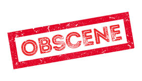 Obscene rubber stamp Stock Image