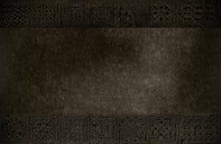 Obscurezca la textura con los ornamentos medievales Fotos de archivo