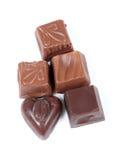 Obscuridad y chocolate con leche Imagen de archivo libre de regalías