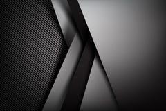Obscuridade abstrata do fundo com illust do vetor da textura da fibra do carbono Imagem de Stock Royalty Free