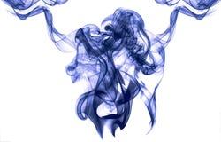 Obscuridade abstrata - efeito azul do fumo ilustração stock