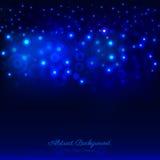 Obscuridade abstrata - fundo azul com bokeh Foto de Stock