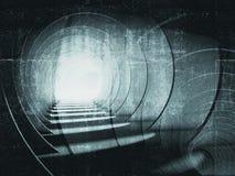 Obscuridade abstrata - fundo azul do túnel Fotos de Stock