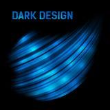 Obscuridade abstrata - fundo 3d de brilho azul Foto de Stock Royalty Free