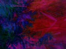Obscuridade abstrata - fundo retangular azul vermelho com teste padrão do fractal Imagem de Stock Royalty Free