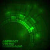 Obscuridade abstrata - fundo técnico verde ilustração stock