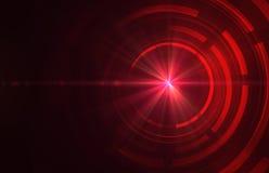 Obscuridade abstrata - fundo técnico vermelho ilustração royalty free
