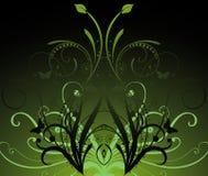 Obscuridade abstrata - fundo verde ilustração do vetor
