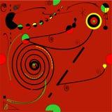 Obscuridade abstrata - fundo vermelho, teste padrão sem emenda 18--06 Fotografia de Stock