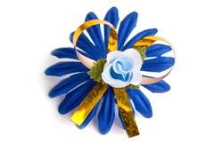Obscuridade artificial - flor azul fotos de stock