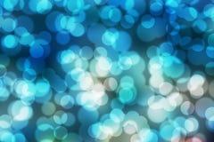 Obscuridade azul de Boken Fotos de Stock Royalty Free