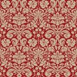 Obscuridade bege do papel de parede - vermelho Foto de Stock Royalty Free