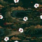 Obscuridade bonita na pancadinha sem emenda verde monótonos da ilha de Havaí Imagem de Stock Royalty Free