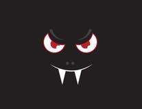 Obscuridade da cara do vampiro ilustração stock