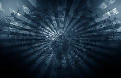 Obscuridade de Grunge - azul Fotografia de Stock Royalty Free