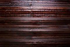 Obscuridade de madeira do fundo Fotos de Stock