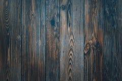Obscuridade de madeira do vintage - placas horizontais azuis Front View Fundo para o projeto foto de stock