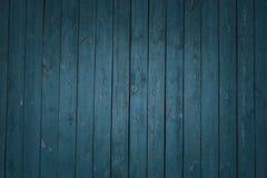 Obscuridade de madeira do vintage - placas horizontais azuis Front View Fundo para o projeto fotografia de stock royalty free