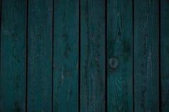 Obscuridade de madeira do vintage - placas horizontais azuis Front View Fundo para o projeto fotografia de stock