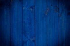 Obscuridade de madeira do vintage - placas horizontais azuis Vista dianteira com espaço da cópia Fundo para o projeto profissiona fotografia de stock