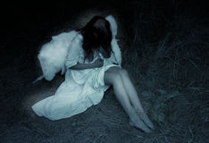 Obscuridade do anjo imagens de stock