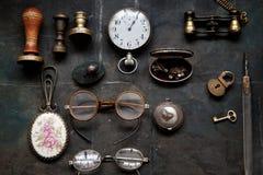 Obscuridade do fundo do vintage - cinza Foto de Stock