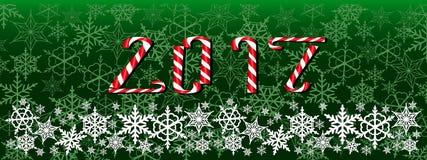 Obscuridade do Natal e do ano novo - bandeira verde da Web Fotos de Stock Royalty Free