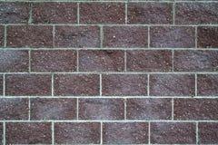 Obscuridade do tijolo - parede vermelha Imagens de Stock