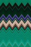 Obscuridade do ziguezague de Chevron - o fundo verde da arte abstrato do teste padrão tende ilustração stock