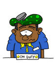 Obscuridade doente do empregado descascada Imagem de Stock Royalty Free