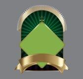 Obscuridade e etiqueta do ouro   Imagem de Stock Royalty Free