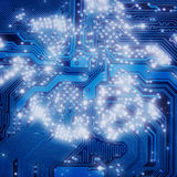 Obscuridade eletrônica industrial - fundo azul imagem de stock royalty free