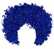 Obscuridade encaracolado na moda - cabelo azul 3d realístico hairsty esférico Imagem de Stock Royalty Free