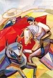 Bullfight ilustração do vetor