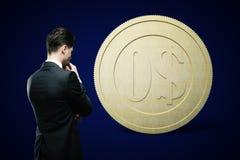Obscuridade financeira do dólar do conceito Fotografia de Stock