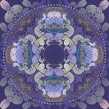 Obscuridade floral do projeto - azul Fotos de Stock Royalty Free