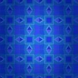 Obscuridade geométrica - textura sem emenda do damasco azul ilustração do vetor