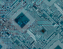 Obscuridade impressa - fundo industrial azul Imagens de Stock Royalty Free