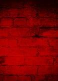 Obscuridade profunda - fundo do Grunge do tijolo vermelho Imagens de Stock Royalty Free