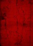 Obscuridade profunda - fundo rachado vermelho da pintura Fotos de Stock Royalty Free