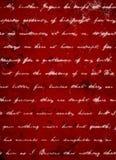 Obscuridade profunda - fundo vermelho do Grunge com escrita branca do roteiro Fotos de Stock