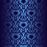 Obscuridade sem emenda - papel de parede azul. ilustração do vetor
