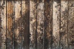 A obscuridade velha do vintage mancha o fundo de madeira das pranchas Foto de Stock Royalty Free