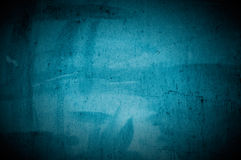 Obscuridade velha - muro de cimento azul foto de stock