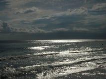 Obscurité à travers les eaux argentées photo libre de droits