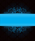 obscurité bleue de fond Images stock