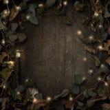 Obscurité de frontière de vignes de conte de fées d'imagination illustration stock