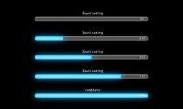 Obscurité de processus de téléchargement Image stock